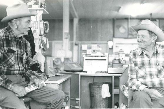 Shine Wilcox & Joe Brandenburg in Eleanor Eudady's Store 1981
