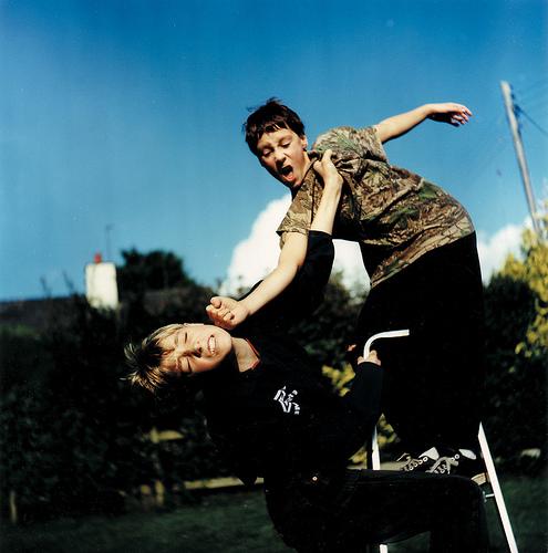 Calf-rope -- Boys fighting